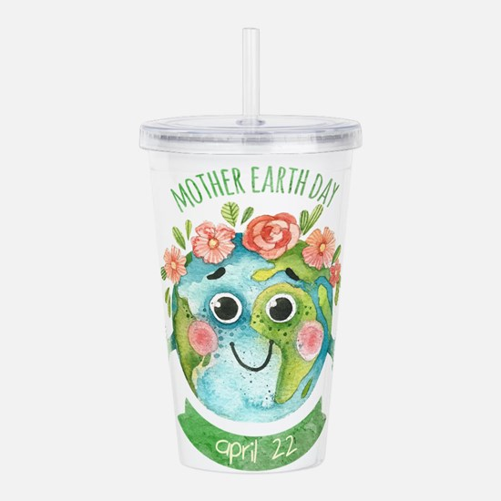 mother earth day Acrylic Double-wall Tumbler