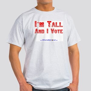 Vote Tall Grey T-Shirt