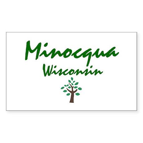 Minocqua Rectangle Sticker
