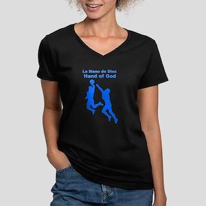 Hand of God Women's V-Neck Dark T-Shirt
