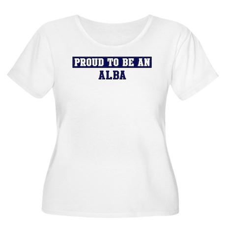 Proud to be Alba Women's Plus Size Scoop Neck T-Sh