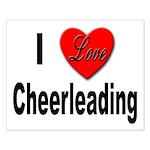 I Love Cheerleading Small Poster