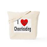I Love Cheerleading Tote Bag