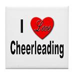 I Love Cheerleading Tile Coaster