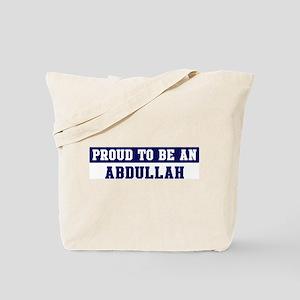 Proud to be Abdullah Tote Bag