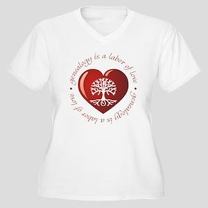 Labor Of Love Women's Plus Size V-Neck T-Shirt