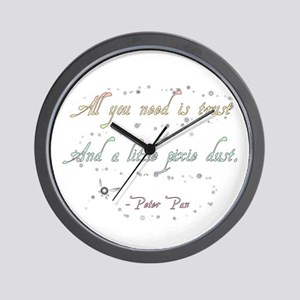 Trust and Pixie Dust Wall Clock
