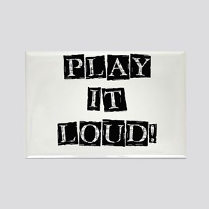 Play it Loud - Black Rectangle Magnet