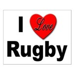 I Love Rugby Small Poster