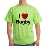 I Love Rugby Green T-Shirt