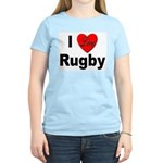 I Love Rugby (Front) Women's Pink T-Shirt