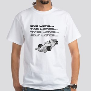 """Four Lights"" Car White T-Shirt"