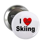 I Love Skiing Button