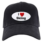 I Love Skiing Black Cap