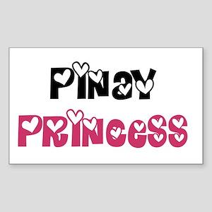 Pinay Princess Rectangle Sticker