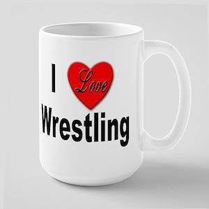 I Love Wrestling Large Mug