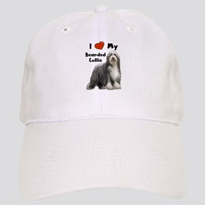 I Love My Bearded Collie Cap