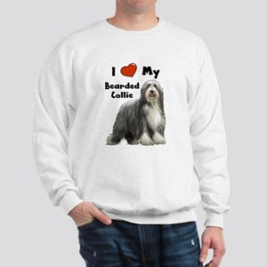 I Love My Bearded Collie Sweatshirt