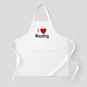 I Love Wrestling BBQ Apron