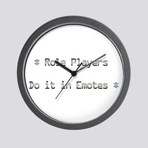 Role Players Wall Clock