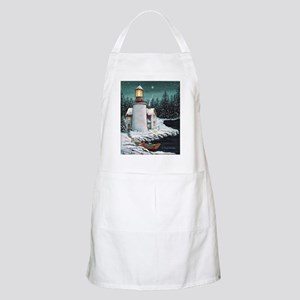 Christmas Lighthouse BBQ Apron