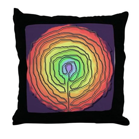 Trust Birth Labyrinth Throw Pillow
