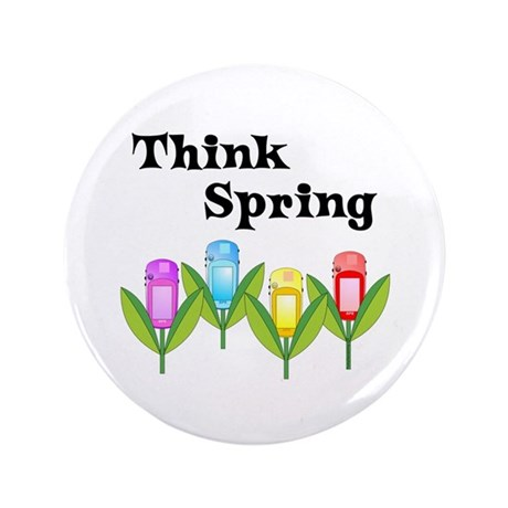 "Think Spring GPS 3.5"" Button (100 pack)"