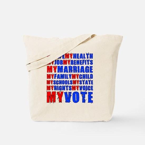 My Life My Vote Tote Bag