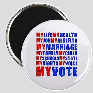 My Life My Vote Magnet