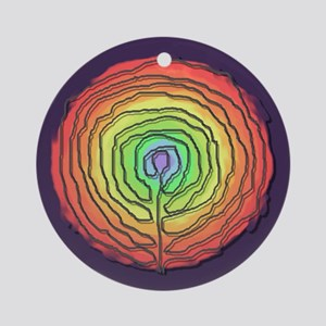 Trust Birth Labyrinth Ornament (Round)