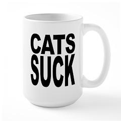 Cats Suck Large Mug
