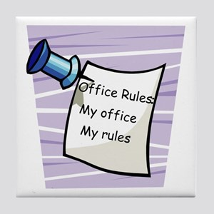 Office Rules Tile Coaster