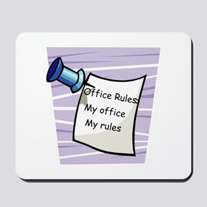 Office Rules Mousepad