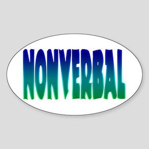 nonverbal Oval Sticker