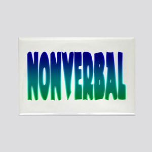 nonverbal Rectangle Magnet