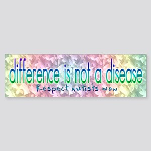 Difference is not a Disease Bumper Sticker