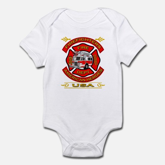 Firefighters~American Heroes Infant Bodysuit