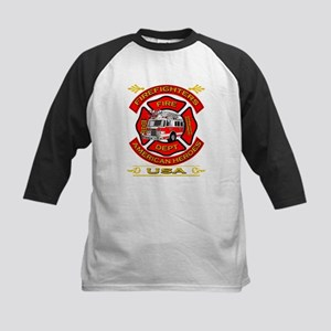 Firefighters~American Heroes Kids Baseball Jersey