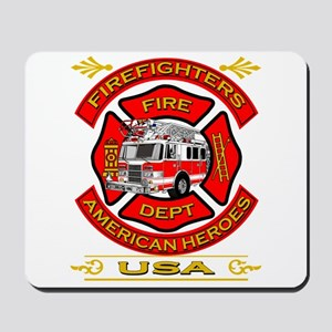 Firefighters~American Heroes Mousepad