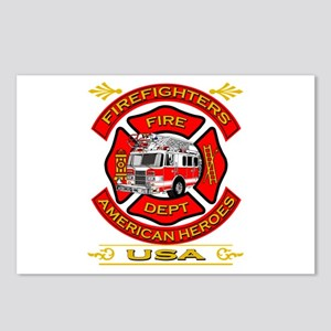 Firefighters~American Heroes Postcards (Package of