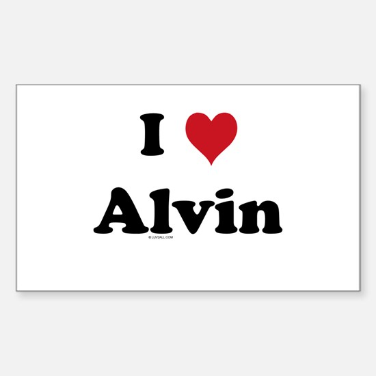 I love Alvin Rectangle Decal