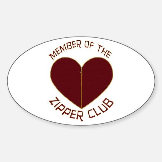 Zipper Club Oval Sticker (10 pk)