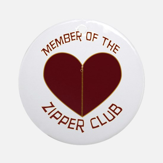 Zipper Club Ornament (Round)