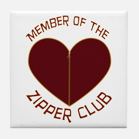 Zipper Club Tile Coaster