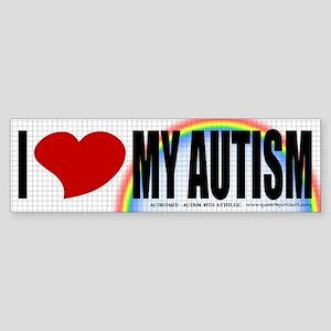I Love My Autism Bumper Sticker