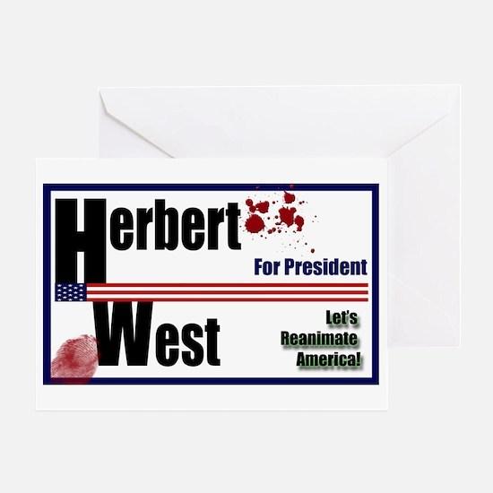 Herbert West reanimator president Greeting Card