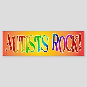Autists Rock Bumper Sticker