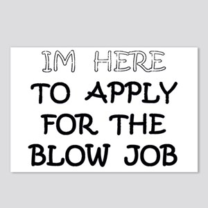 APPLY 4 BLOWJOB/BLACK Postcards (Package of 8)