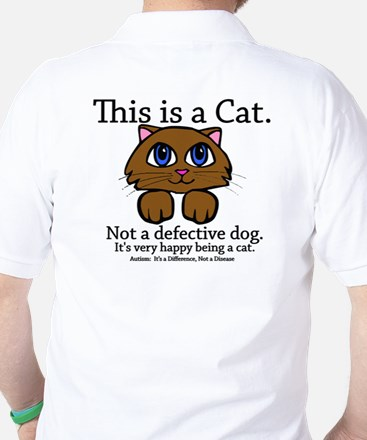 This is a Cat Golf Shirt