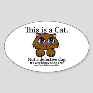 This is a Cat Oval Sticker